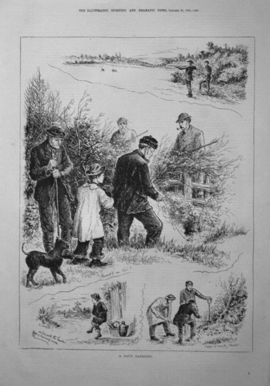 A Day's Rabbiting. 1881