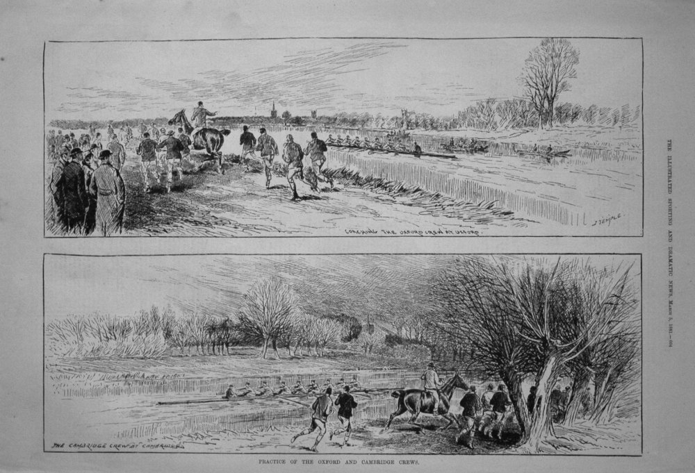 Practice of the Oxford and Cambridge Crews. 1881