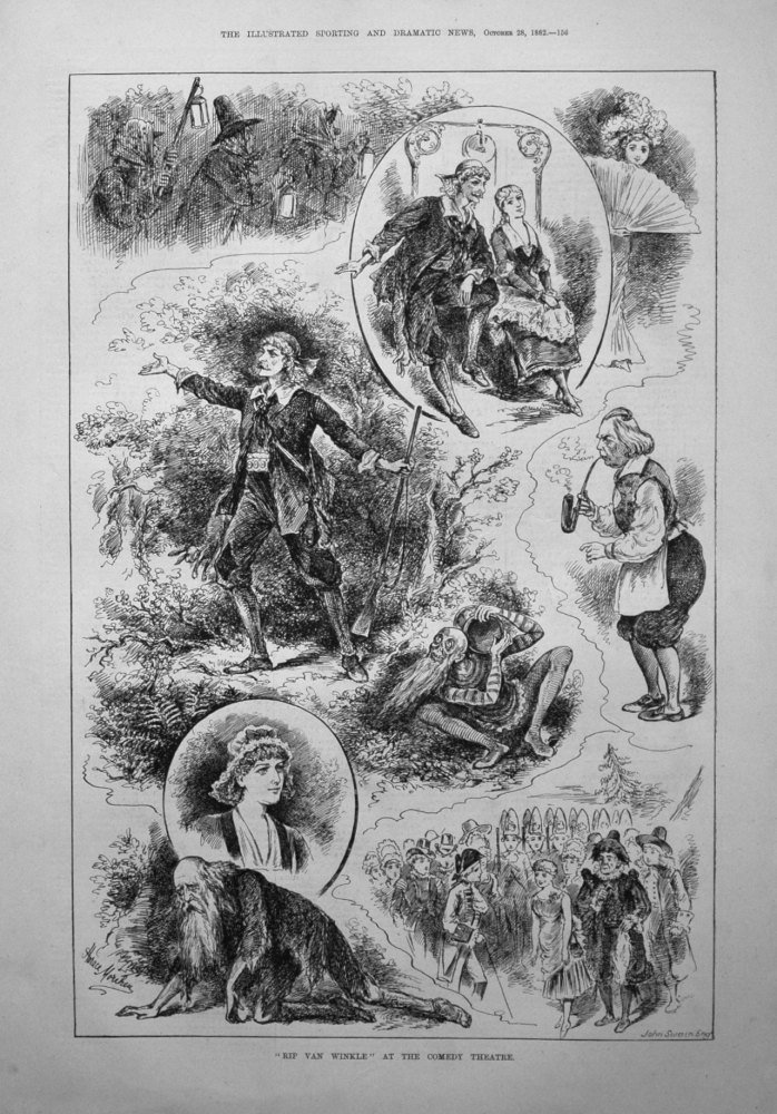 """Rip Van Winkle"" at the Comedy Theatre. 1882"