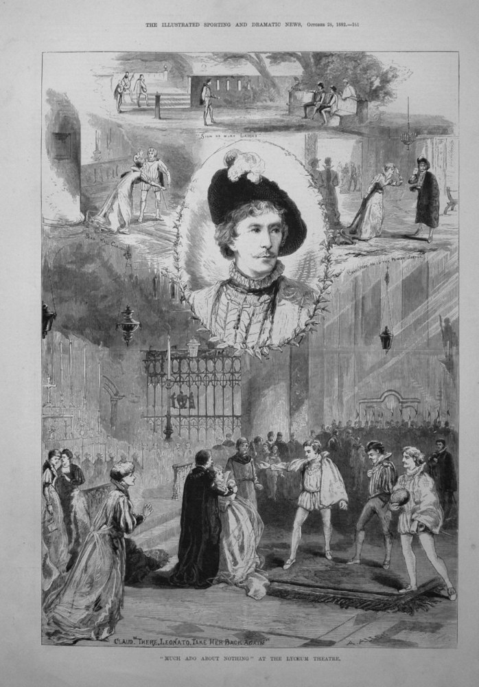 """Much Ado About Nothing"" at the Lyceum Theatre. 1882"