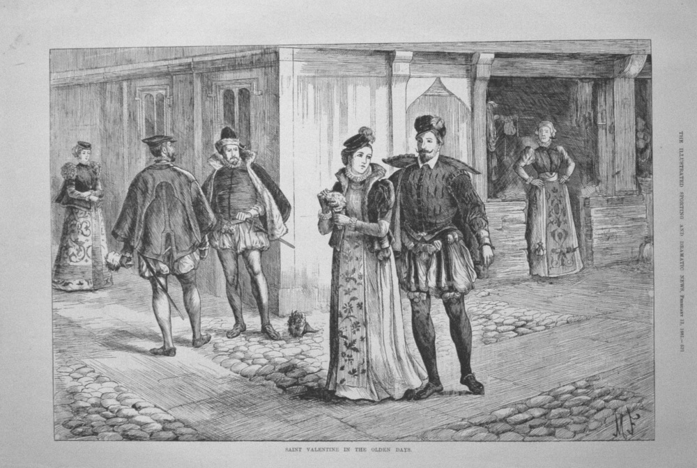 Saint Valentine in the Olden Days. 1881