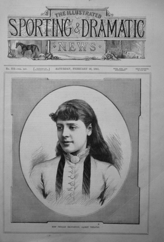 Miss Phyllis Broughton, Gaiety Theatre. 1881