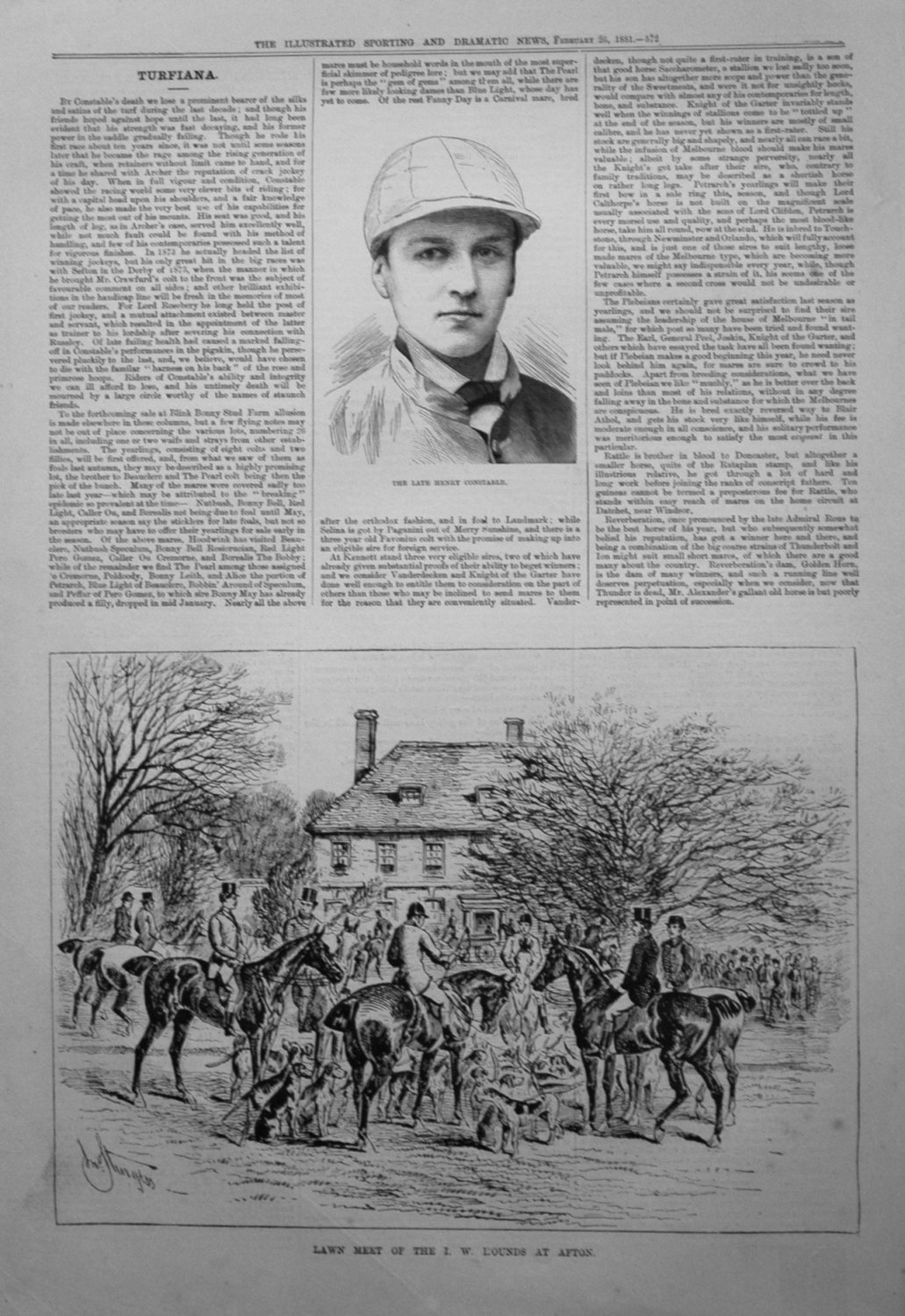 Lawn Meet of the I. W. Hounds at Afton. 1881
