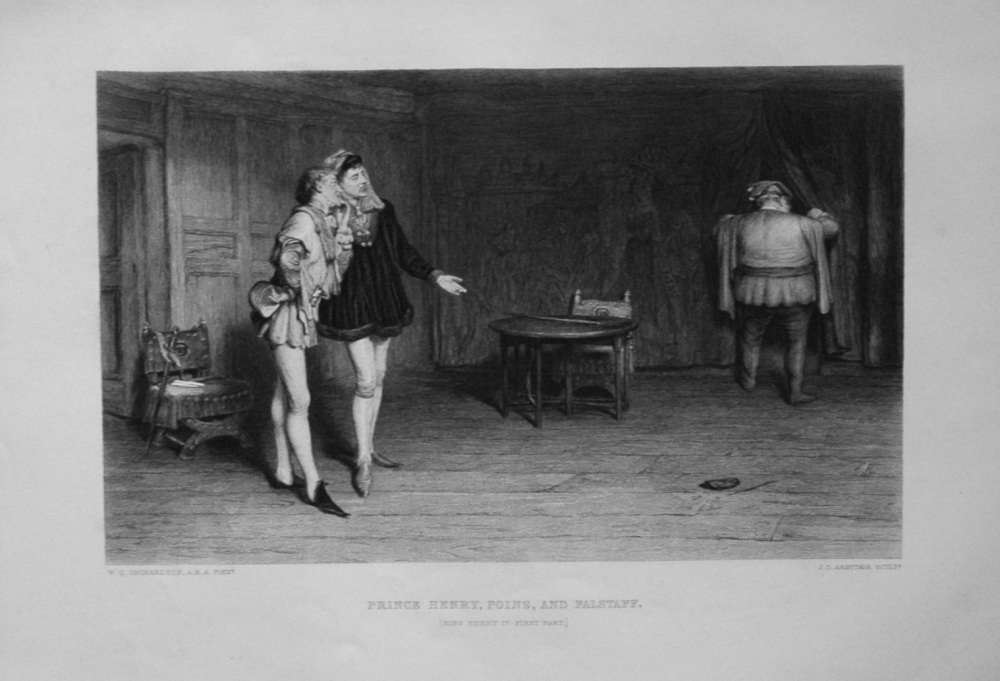 Prince Henry, Poins, and Falstaff.