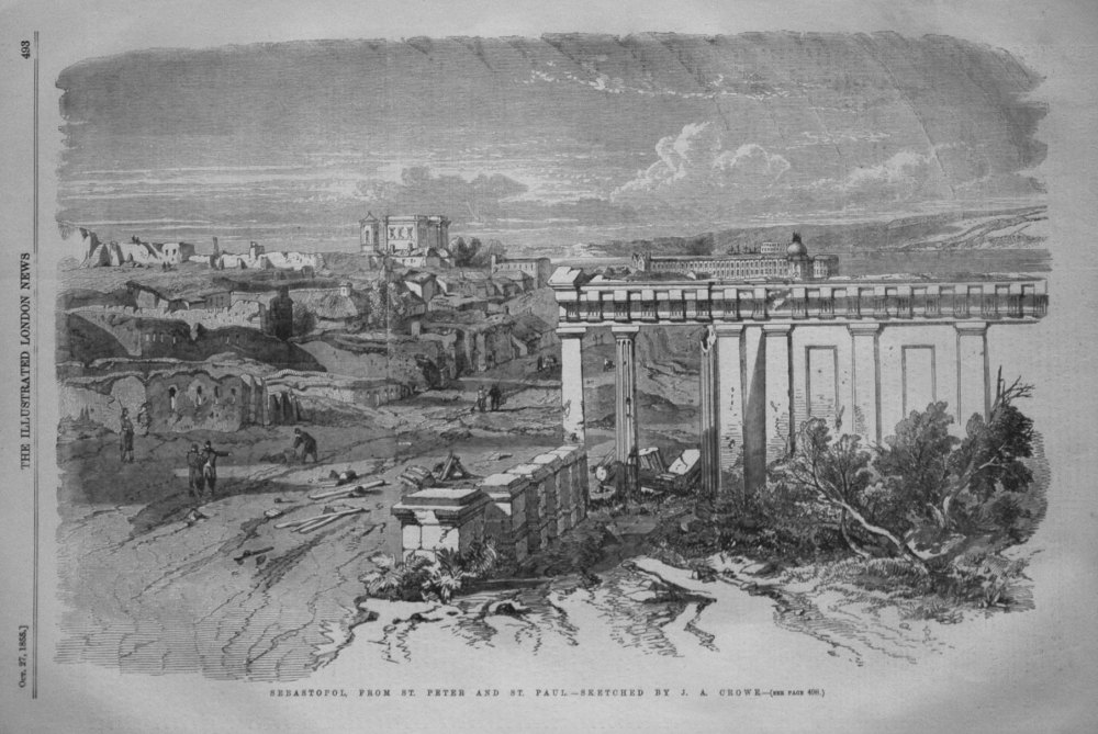 Sebastopol. from St. Peter and St. Paul. - Sketched by J.A. Crowe.