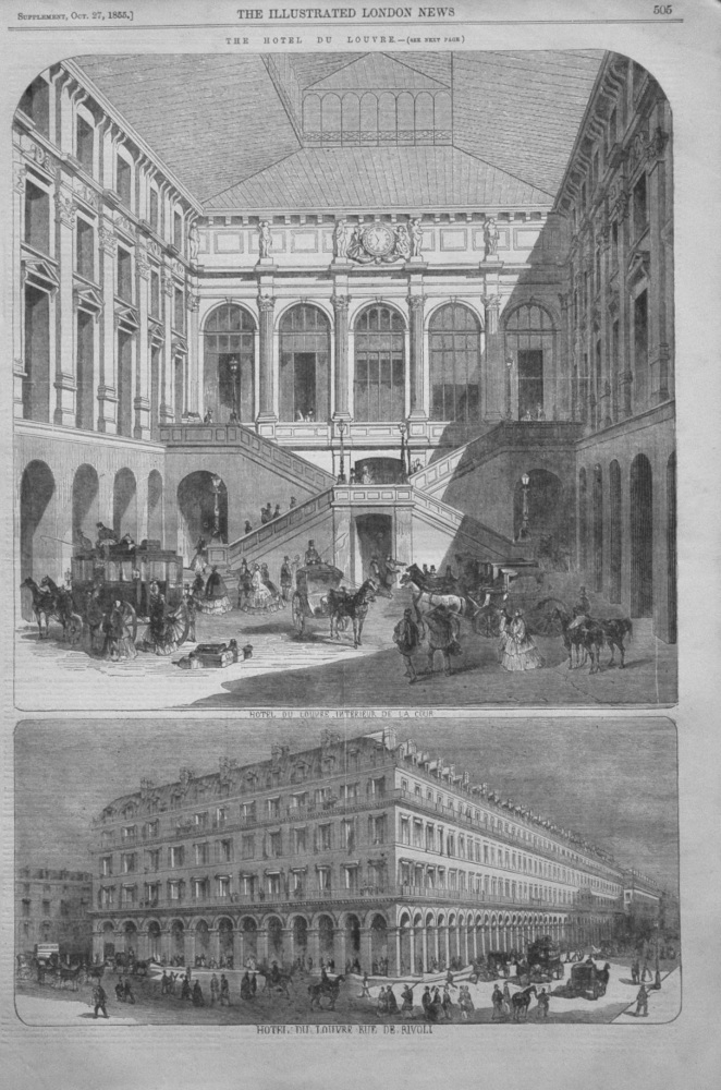 The Hotel Du Louvre. 1855