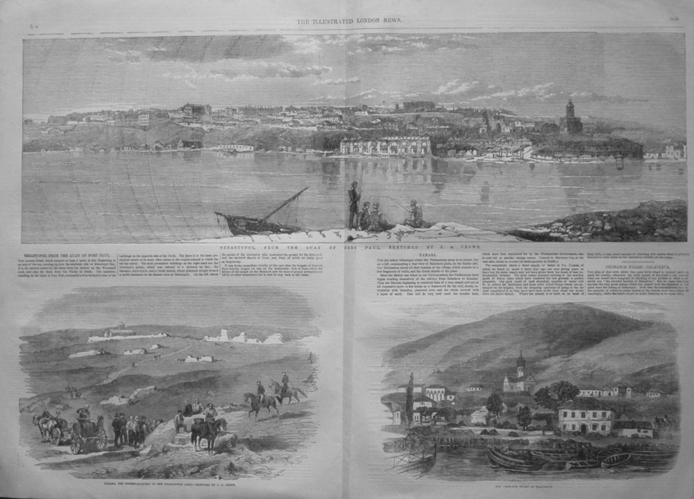 Sebastopol from the Quay of Fort Paul, Sketched by J.A. Crowe. 1855