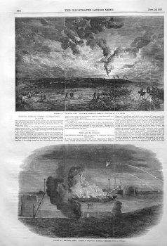 Burning Russian Vessels in Sebastopol. 1855