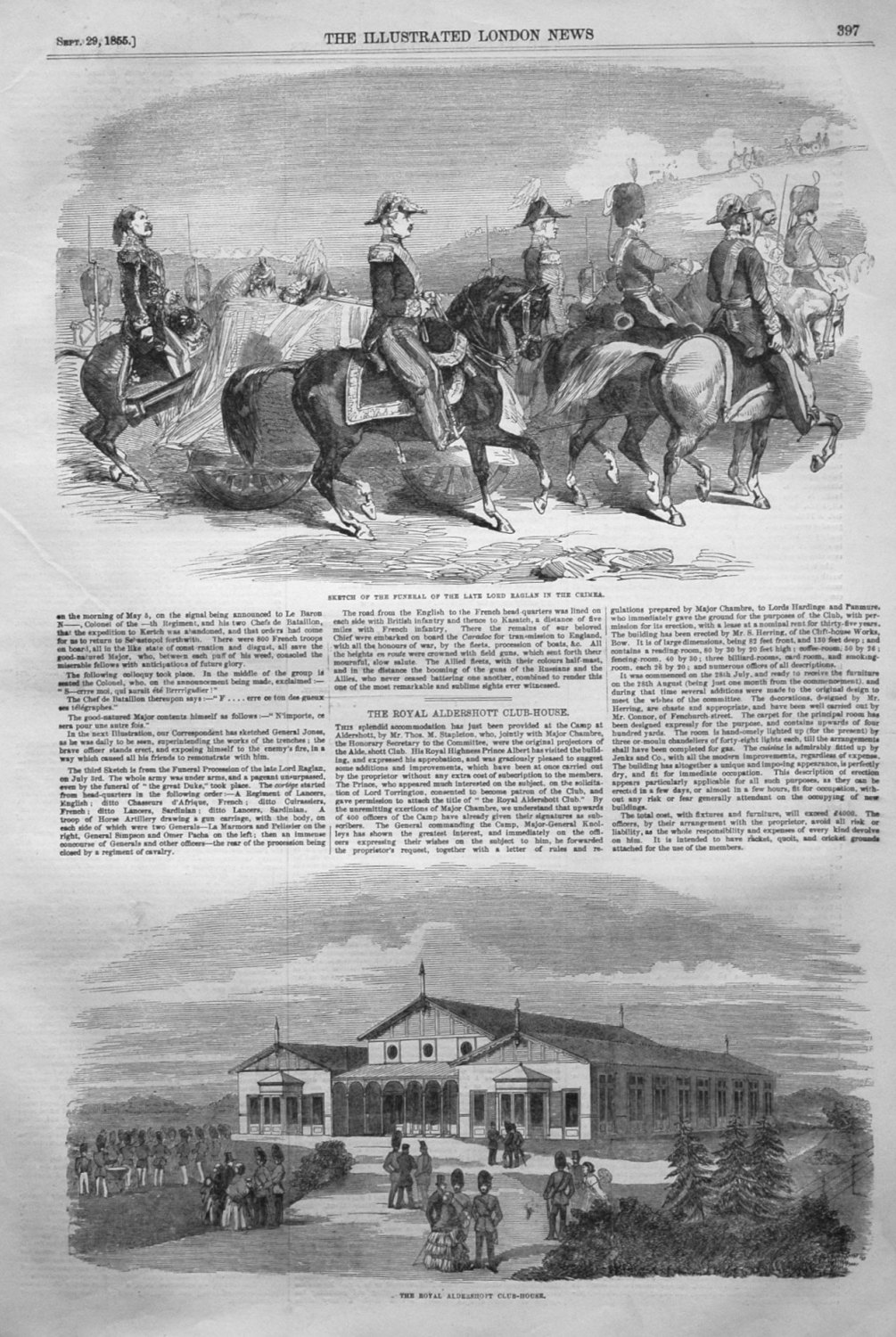 Sketch of the Funeral of the Late Lord Raglan in the Crimea. 1855