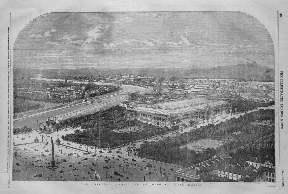 The Universal Exhibition Building at Paris. 1855