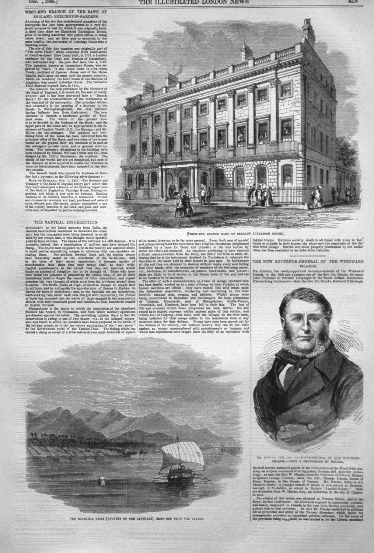 West-End Branch of the Bank of England, Burlington-Gardens. 1855