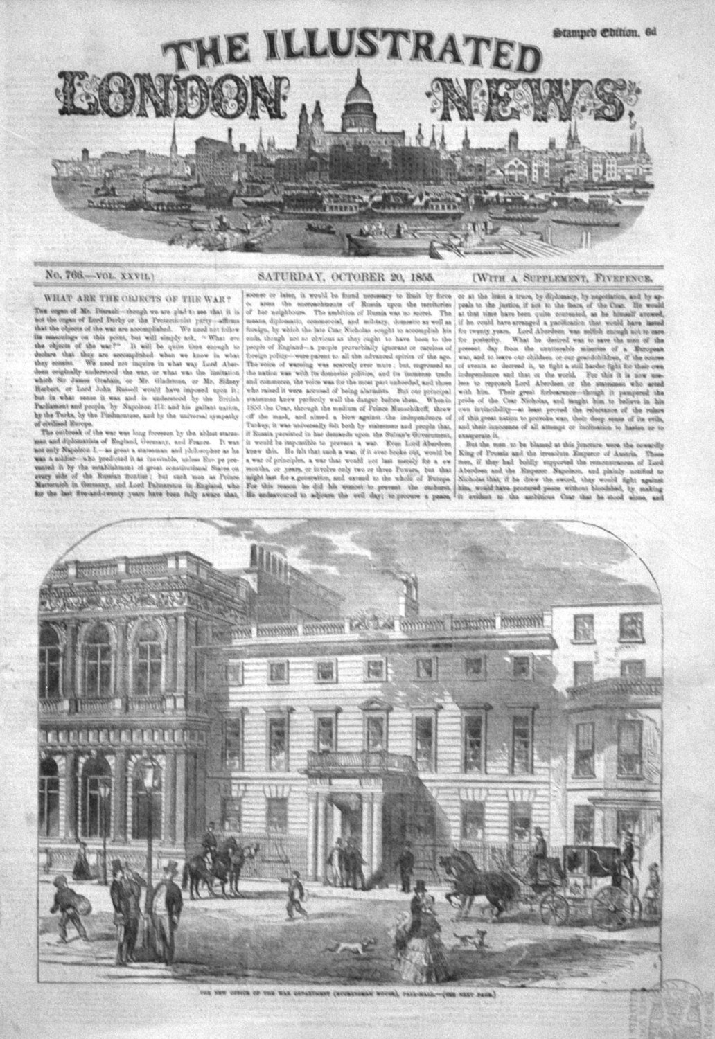 Illustrated London News October 20th 1855.