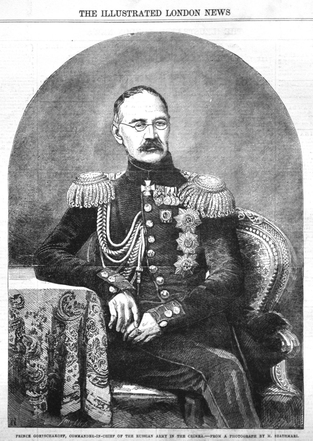 Prince Gortschakoff, Commander-in-Chief of the Russian Army in the Crimea.