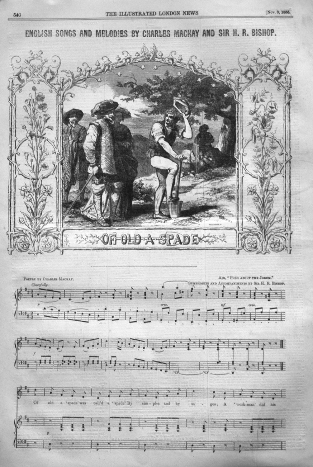 English Songs and Melodies by Charles Mackay and Sir H.R. Bishop. Of Old A