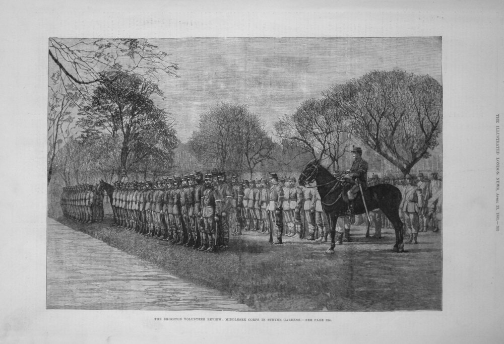 The Brighton Volunteer Review : Middlesex Corps in Steyne Gardens. 1881
