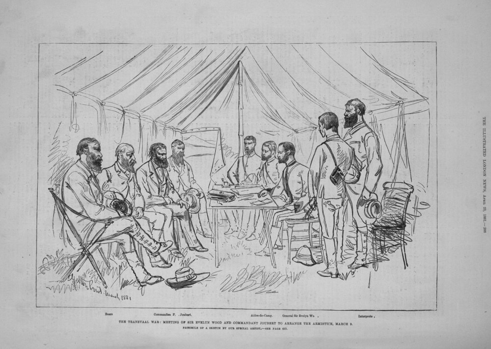 The Transvaal War : Meeting of Sir Evelyn Wood and Commandant Joubert to Ar