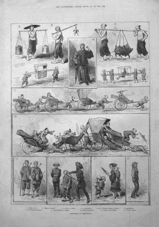 Sketches At Hong-Kong. 1882