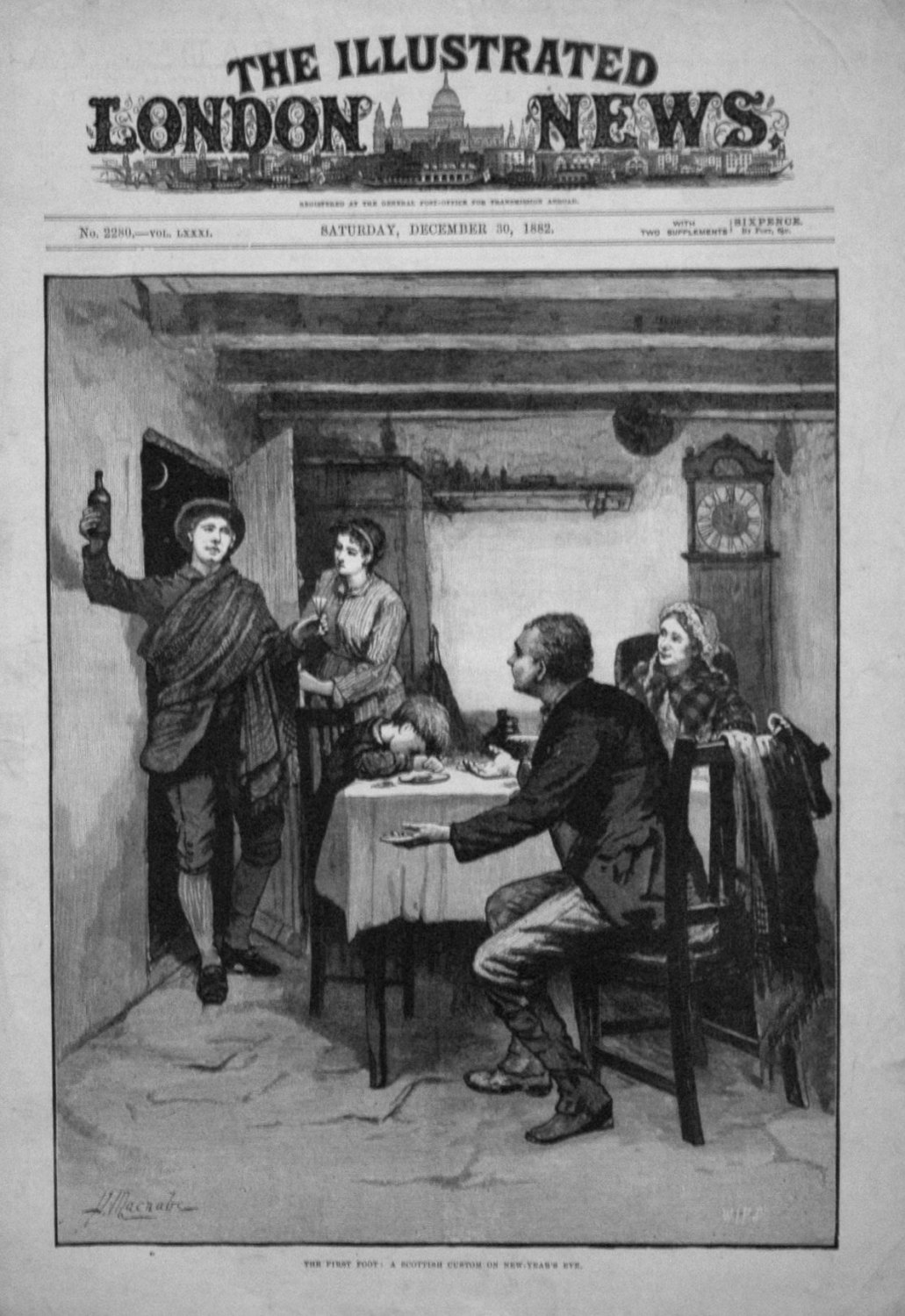 The First Foot : A Scottish Custom on New-Year's Eve. 1882