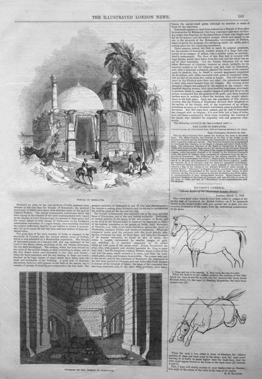 Temple of Somnauth. 1843