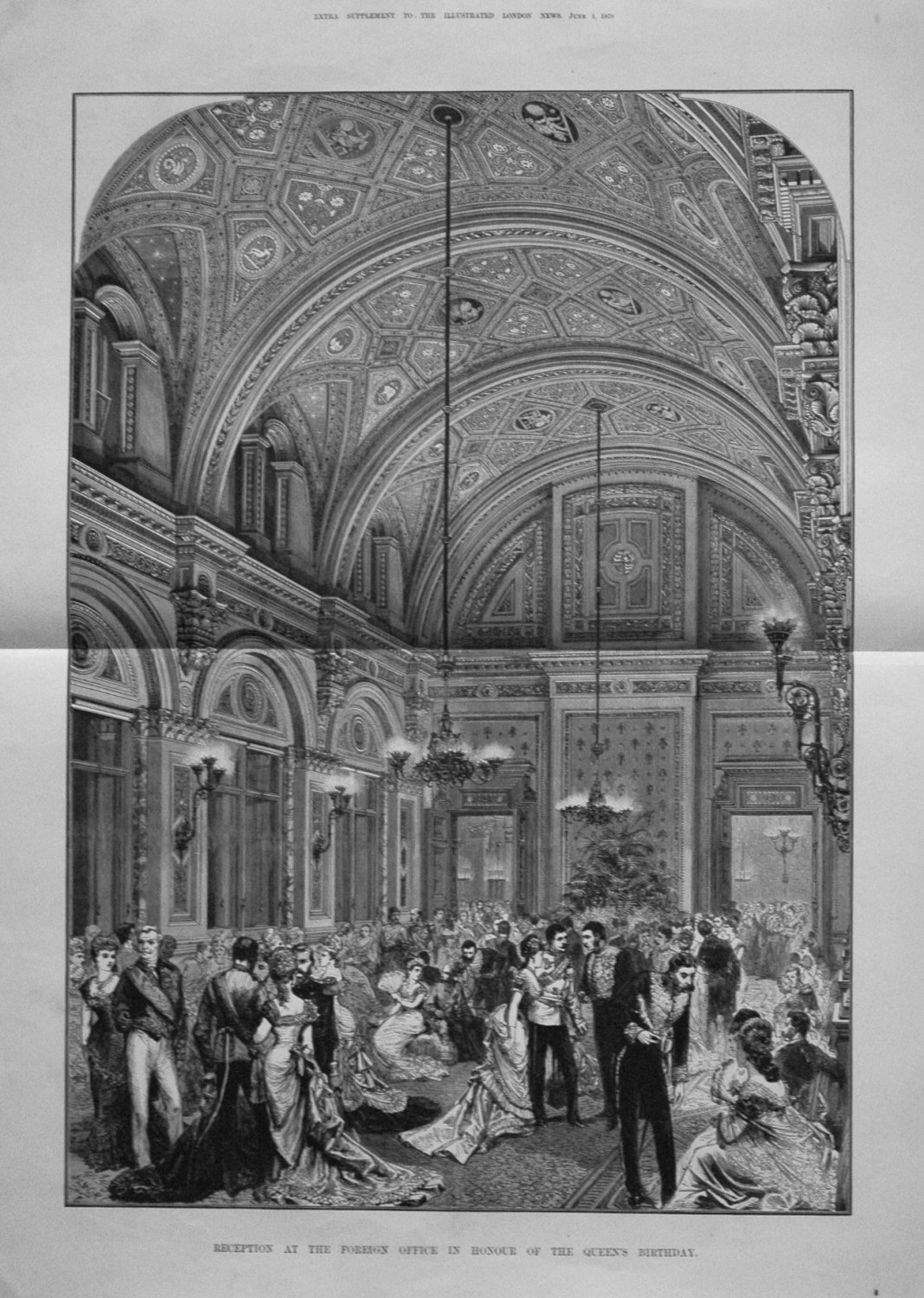 Reception at the Foreign Office in Honour of the Queen's Birthday. 1878