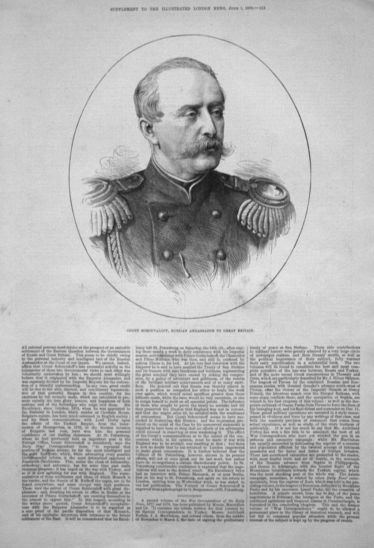 Count Schouvaloff, Russian Ambassador to Great Britain. 1878