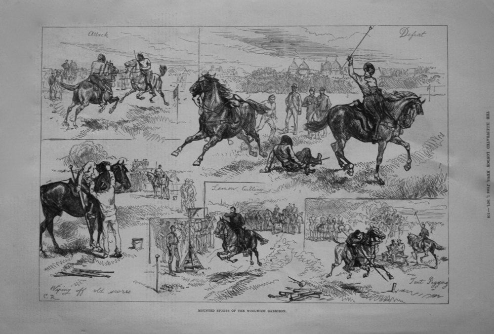 Mounted Sports of the Woolwich Garrison. 1878
