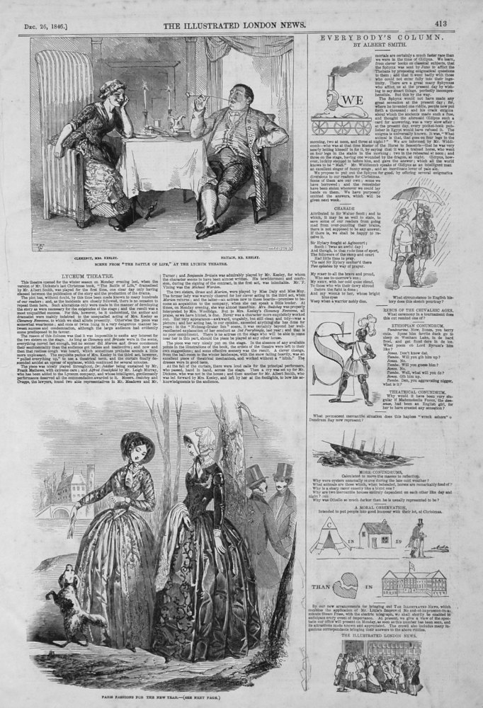 Paris Fashions for the New Year. 1846