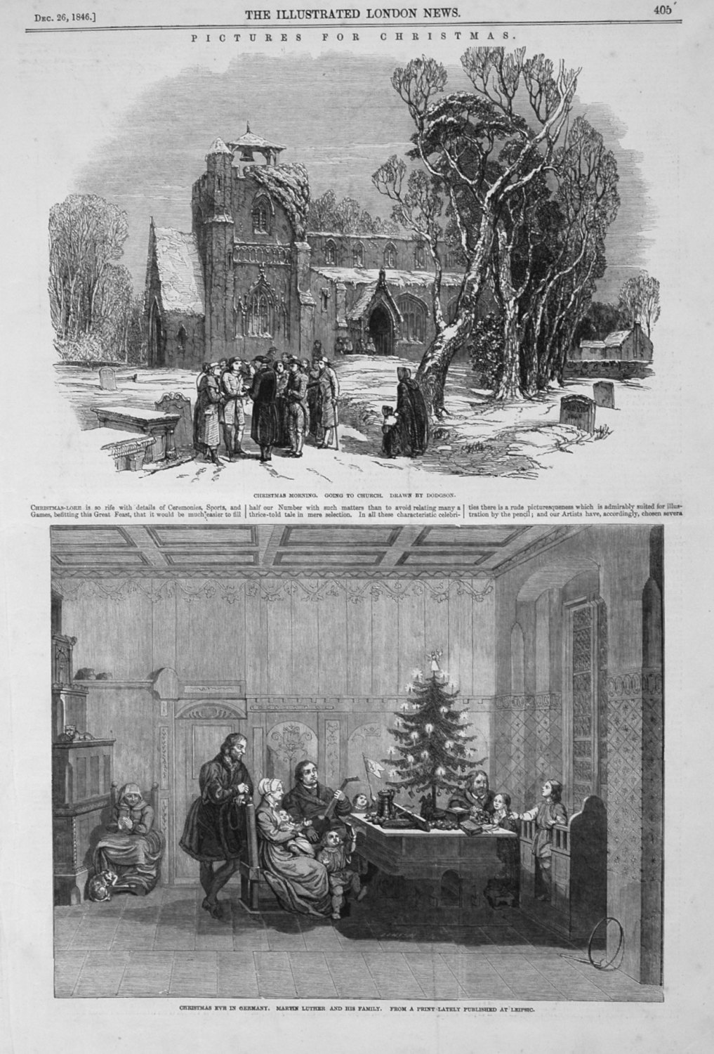 Pictures for Christmas. 1846
