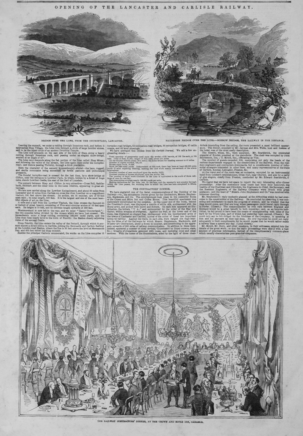 Opening of the Lancaster and Carlisle Railway. 1846