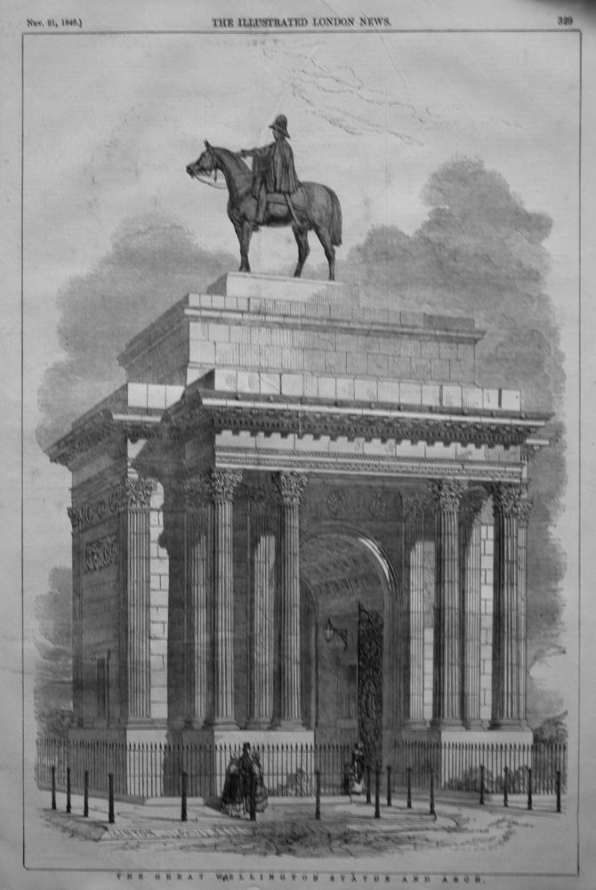 The Great Wellington Statue and Arch. 1846