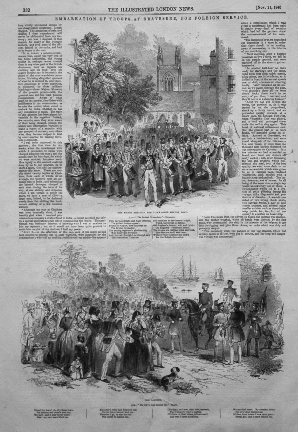 Embarkation of Troops at Gravesend, for Foreign Service. 1846