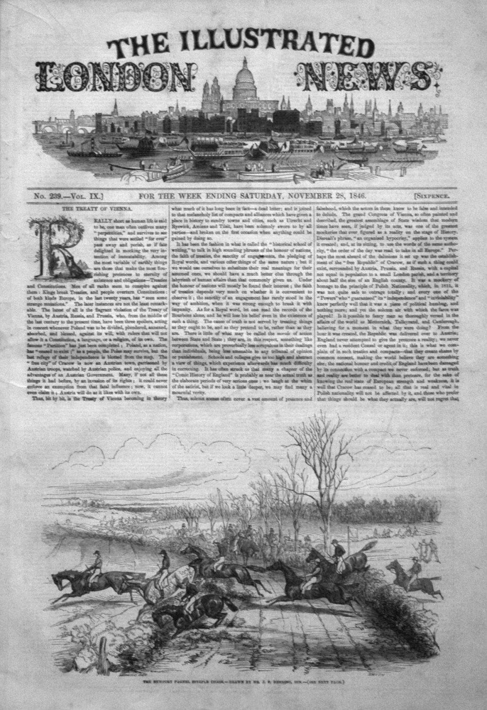 Illustrated London News November 28th 1846.