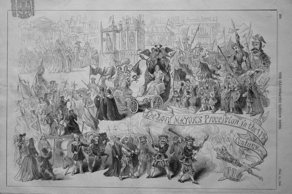 The Lord Mayor's Procession in the 17th Century.