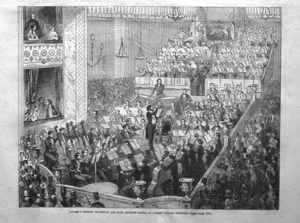 Julien's Concert Orchestra and Four Military Bands, at Covent Garden Theatr