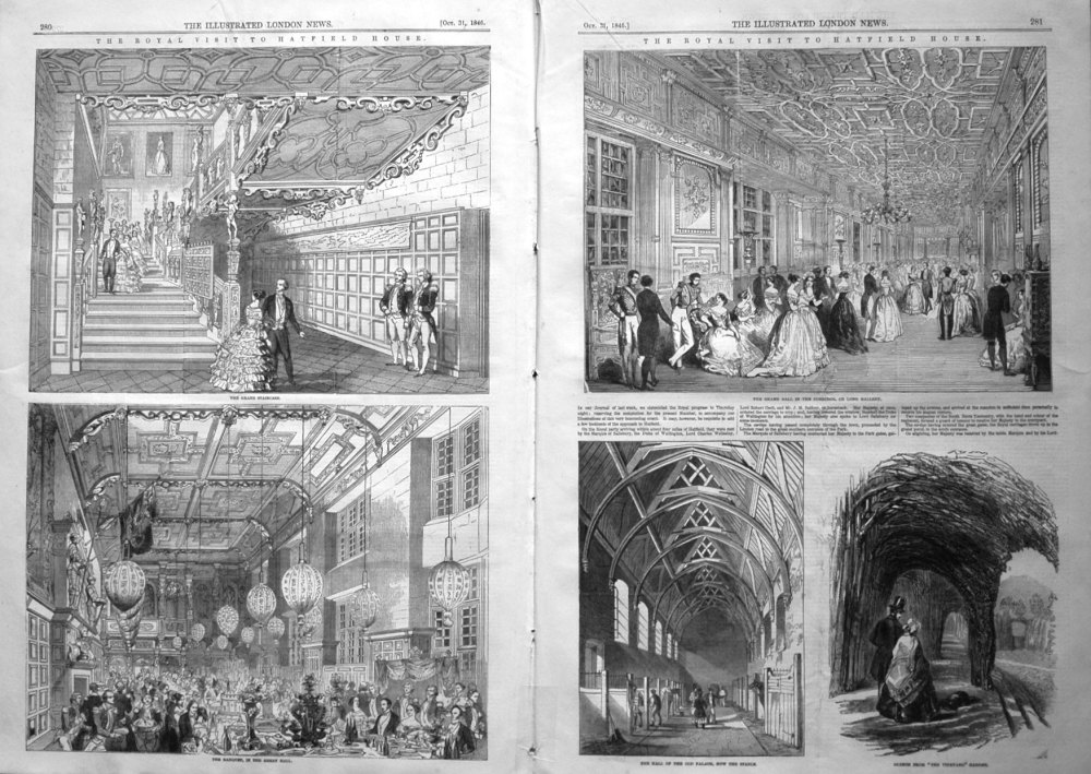 The Royal Visit to Hatfield House. 1846
