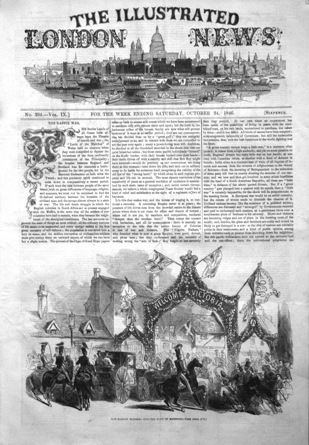 Illustrated London News October 24th 1846.
