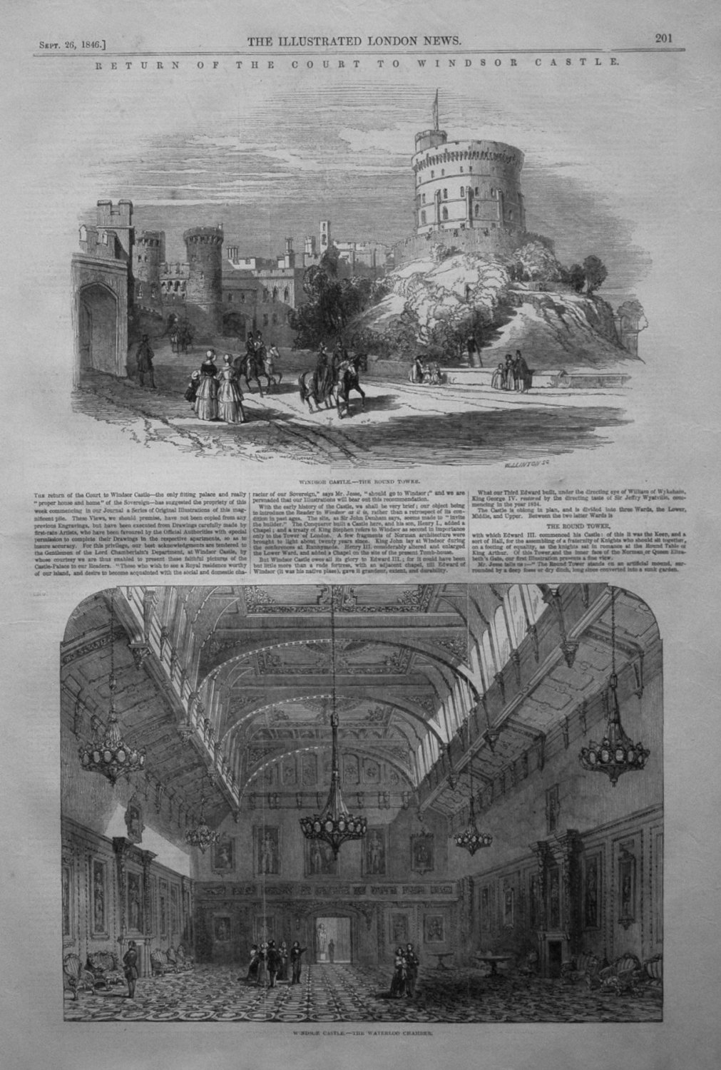 Windsor Castle. - The Round Tower. 1846