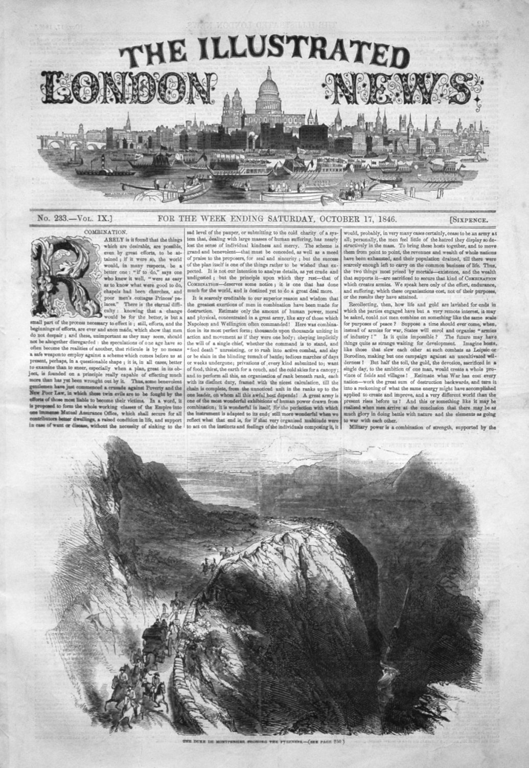 Illustrated London News October 17th 1846.