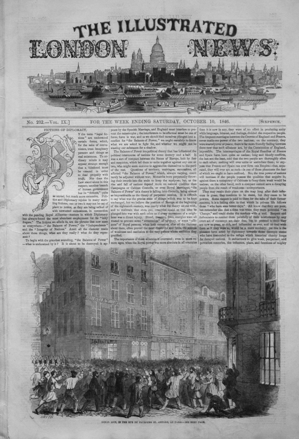 Illustrated London News October 10th 1846.
