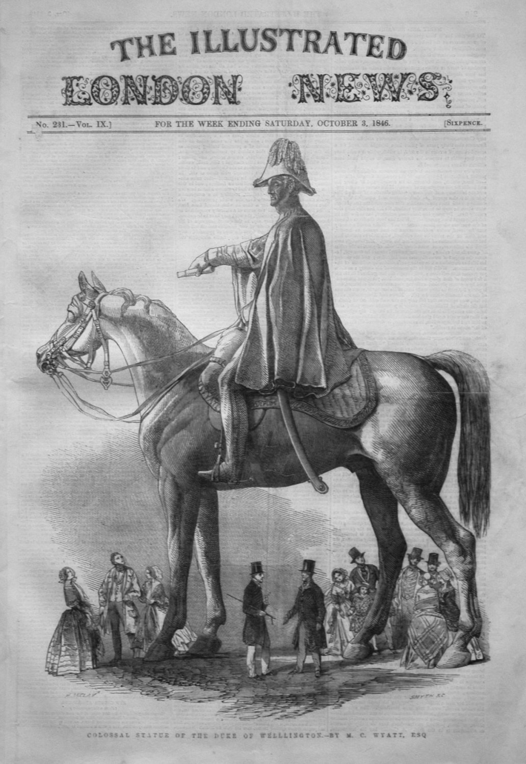 Illustrated London News October 3rd 1846.