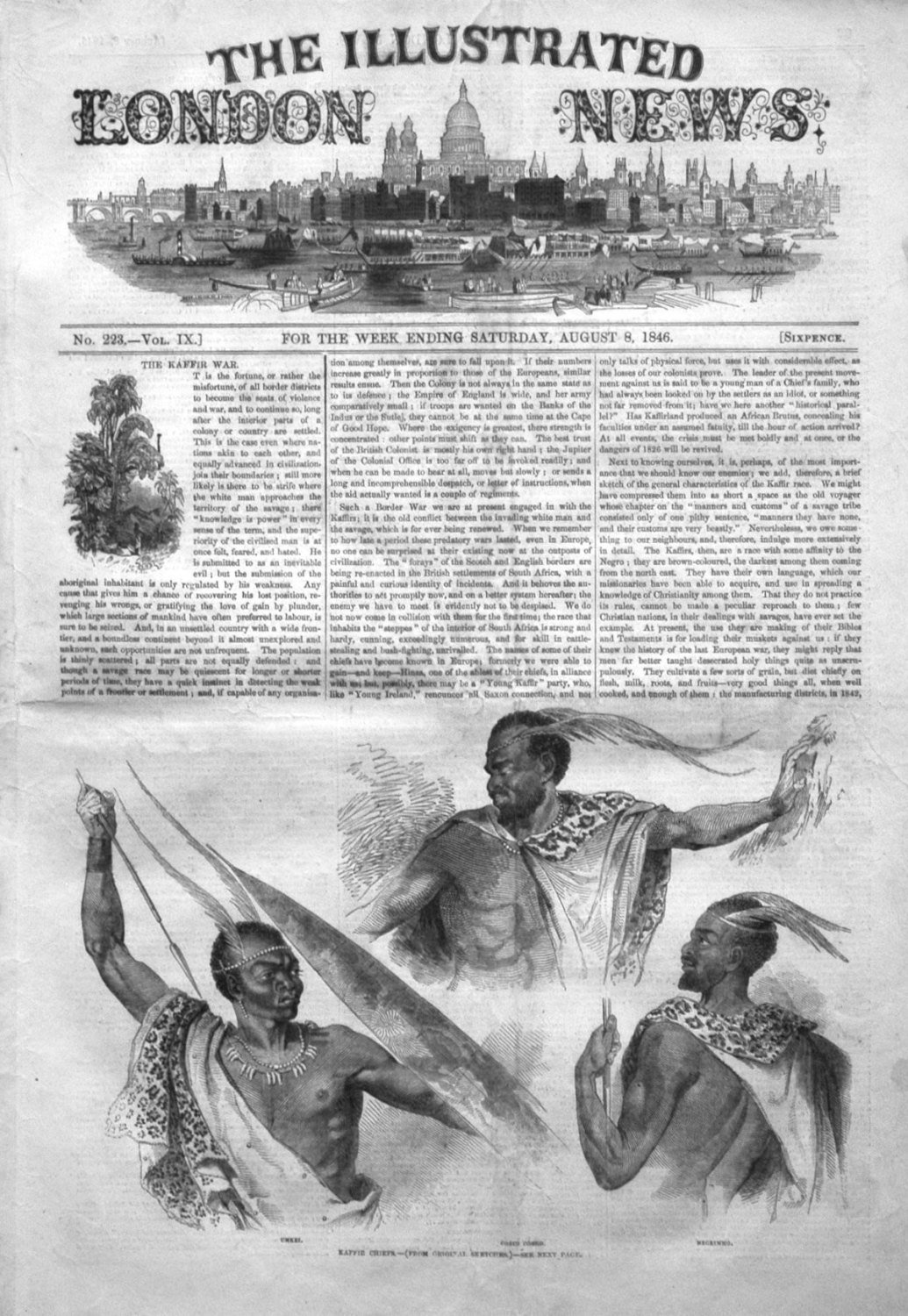Illustrated London News August 8th 1846.
