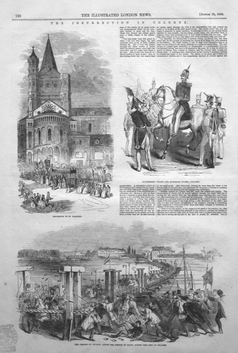 Insurrection in Cologne. 1846