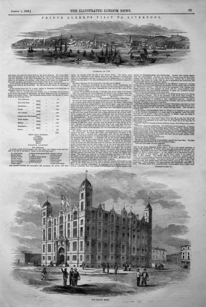 """The Sailors' Home."" Liverpool. 1846"
