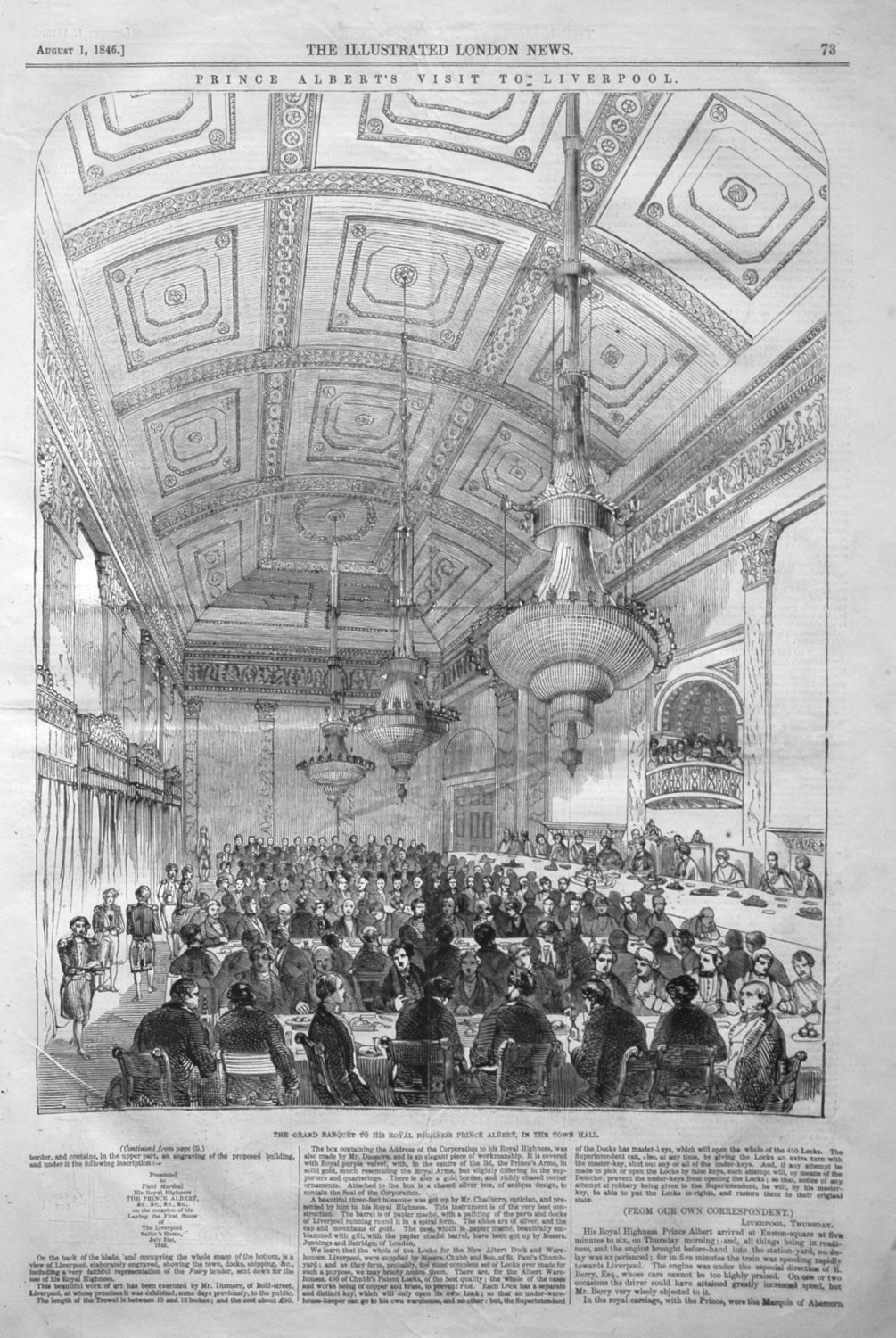The Grand Banquet to His Royal Highness Prince Albert, in the Town Hall. 18