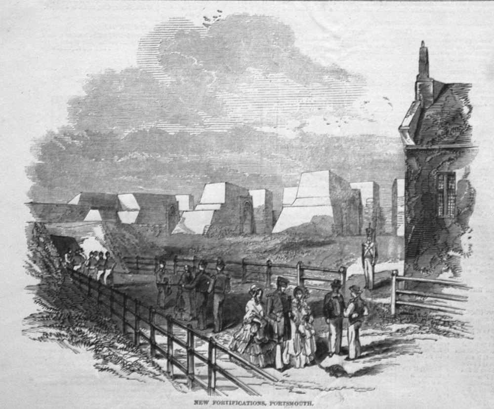 New Fortifications, Portsmouth. 1846