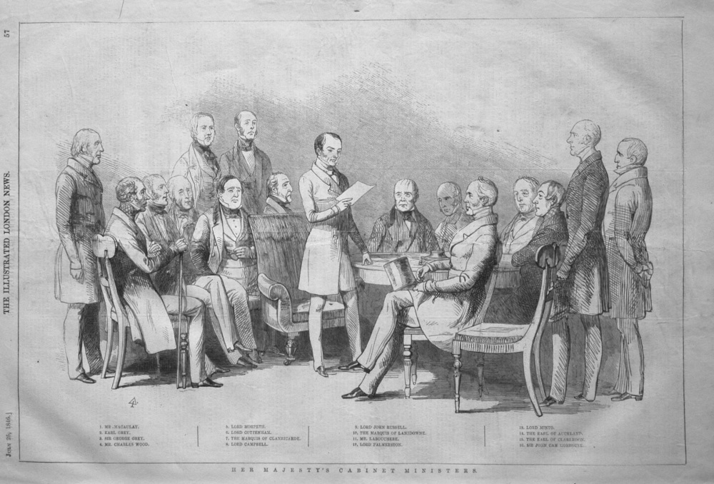 Her Majesty's Cabinet Ministers. 1846