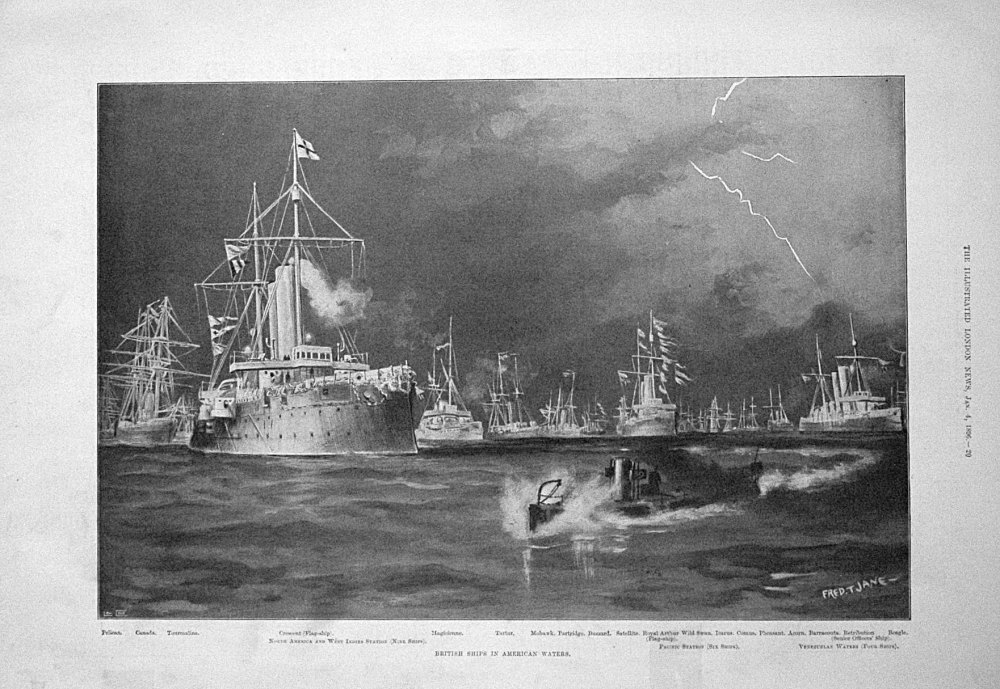 British Ships in American Waters. 1896