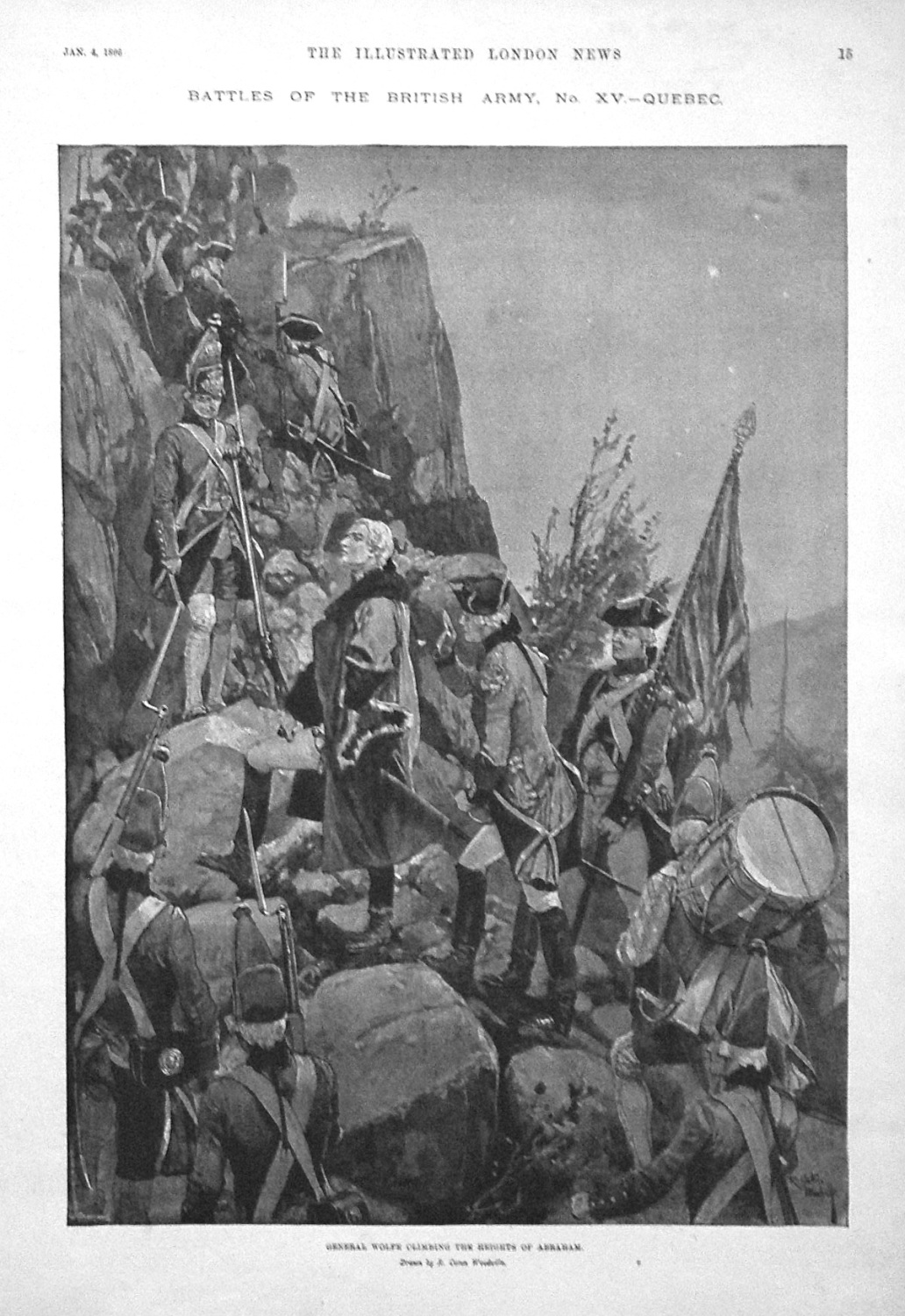 General Wolfe Climbing the Heights of Abraham. 1896