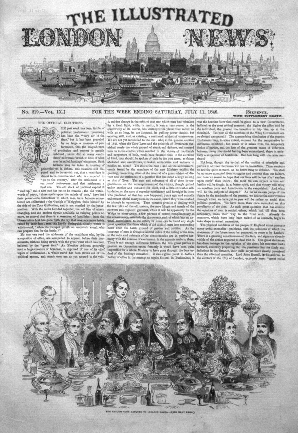 Illustrated London News July 11th 1846.