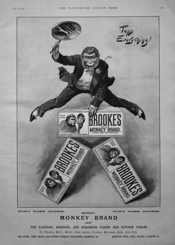 Brooke's Monkey Brand Soap. 1896